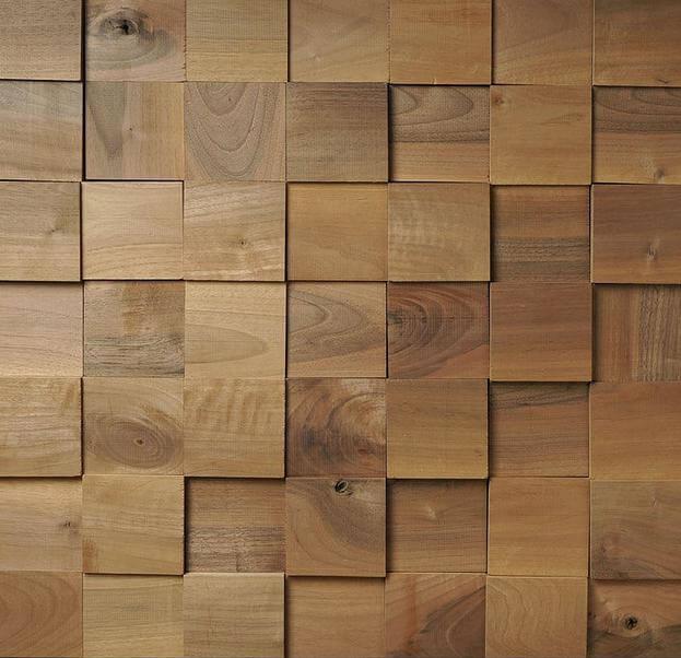 Pannelli 3d in legno tridimensionali - Rivestimento in legno per pareti interne ...