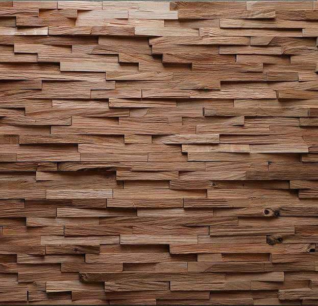 Pannelli 3d in legno tridimensionali - Tavole adesive 3d per pareti ...