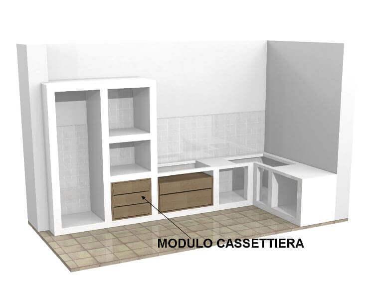 Base per cucine in muratura su misura - Cassettiera da cucina ...