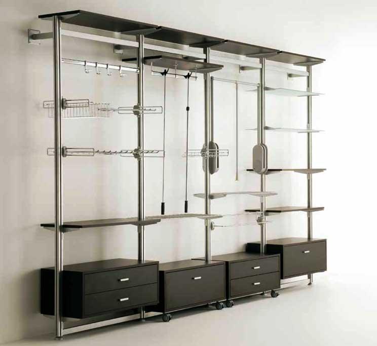 Componenti per cabine armadio librerie e armadi - Scaffali per cabine armadio ...