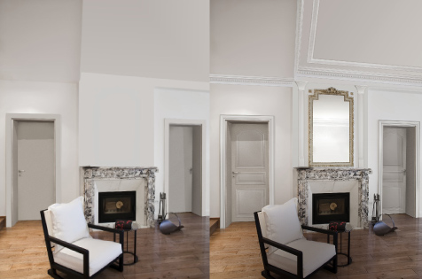 Cornici per soffitti effetto gesso for Colonne quadrate decorative