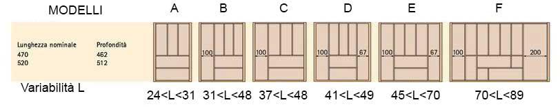 Portaposate in legno negozio online - Portaposate per cassetti ...