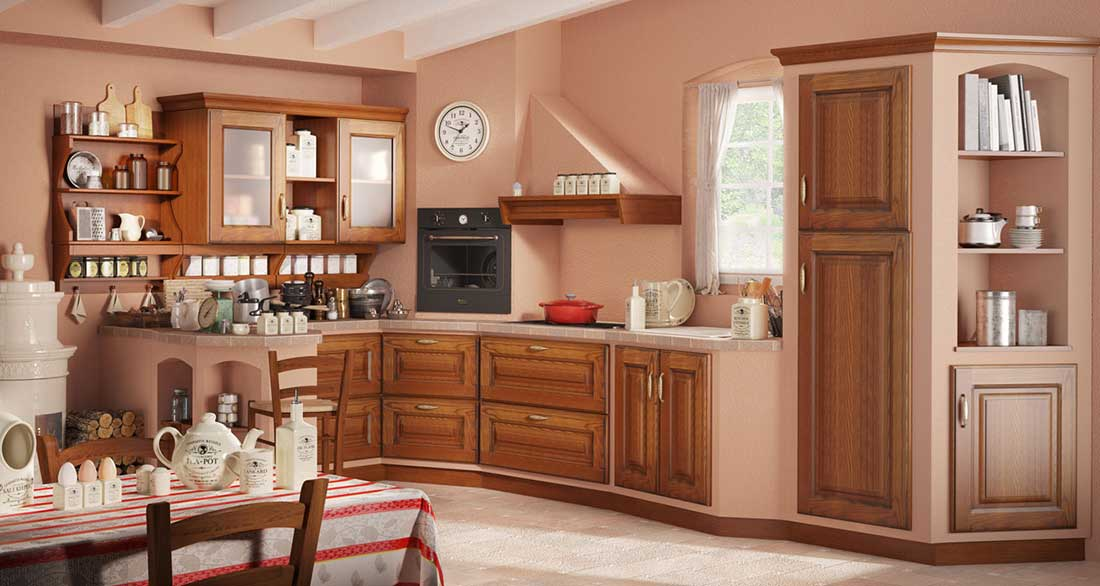 Cucine In Legno Prezzi. Cucina Stile Classico Ante Cucina Legno ...