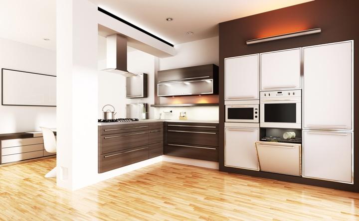 Ante in legno e vetro per cucine e armadi su misura - Quel parquet pour une cuisine ...