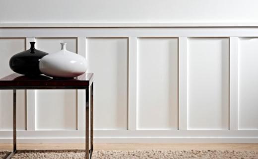 Boiserie a pannelli laccati negozio online for Ikea coprifili