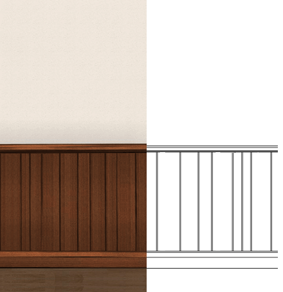 boiserie a doghe in legno. Black Bedroom Furniture Sets. Home Design Ideas