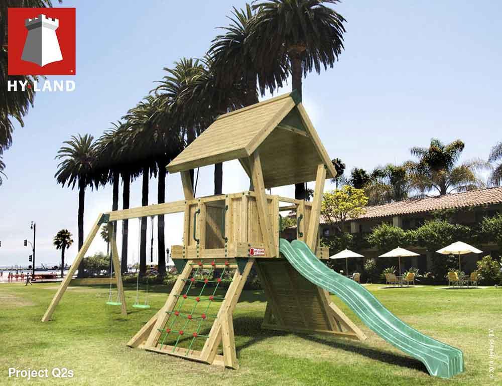 Giochi in legno per parco giochi e giardini pubblici for Scivoli in legno per giardini