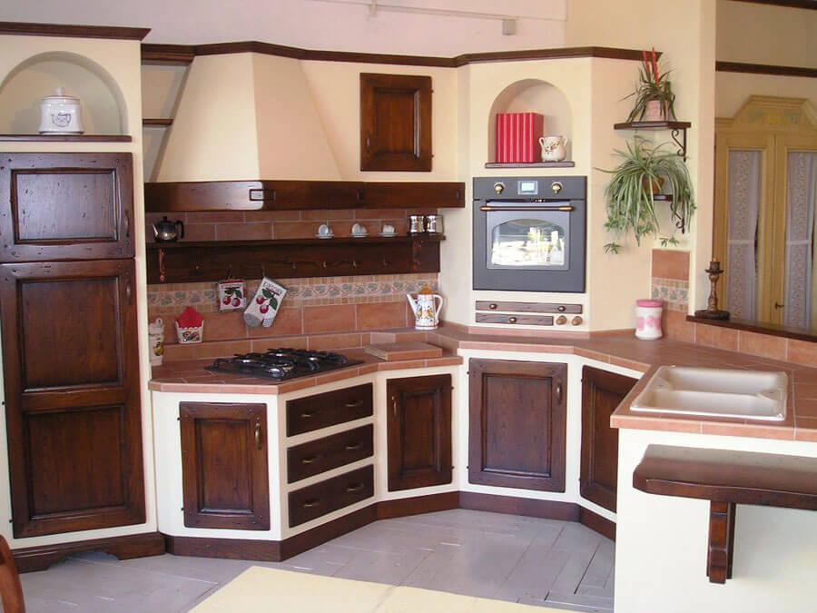 Strutture per cucine in muratura su misura - Cucina angolo cottura in muratura ...