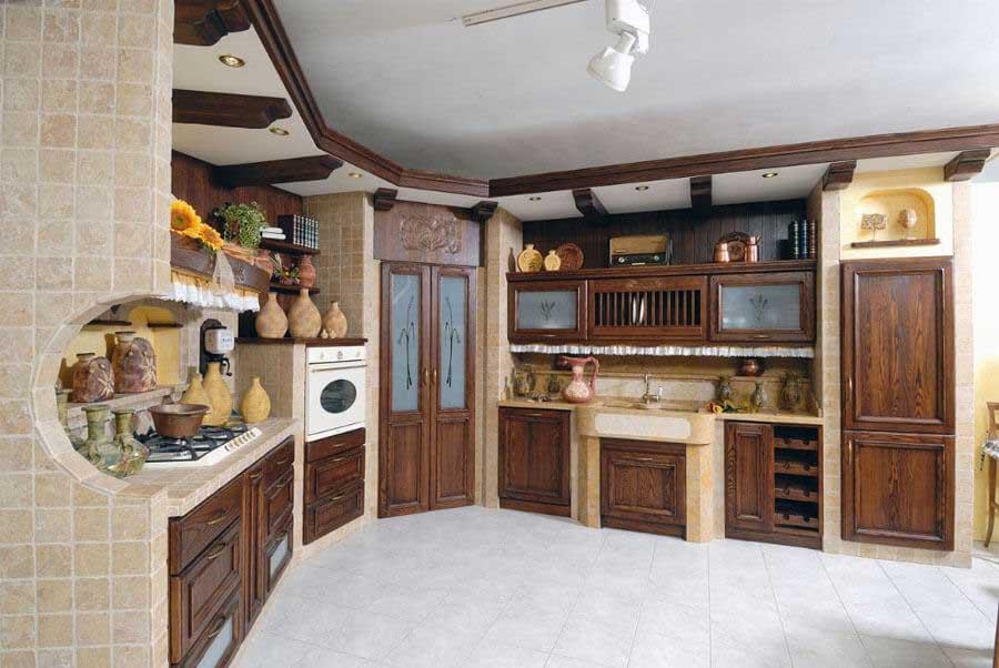 Strutture per cucine in muratura su misura - Cappa cucina in muratura ...