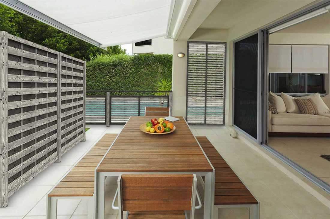 Pannelli frangivento e frangivista in legno per terrazzi e - Pannelli divisori giardino ...