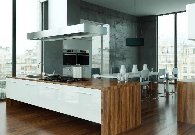Piano cucina in legno lamellare massello - Piano cucina laminato ...