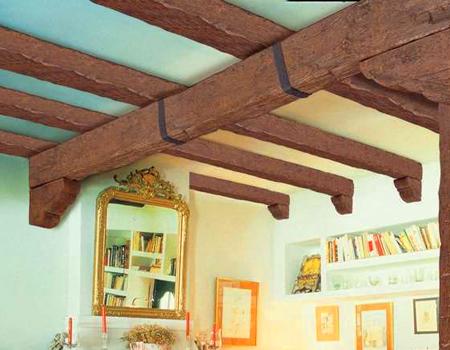 Travi Legno Soffitto Finte : Travi rustiche per soffitti in poliuretano negozio online