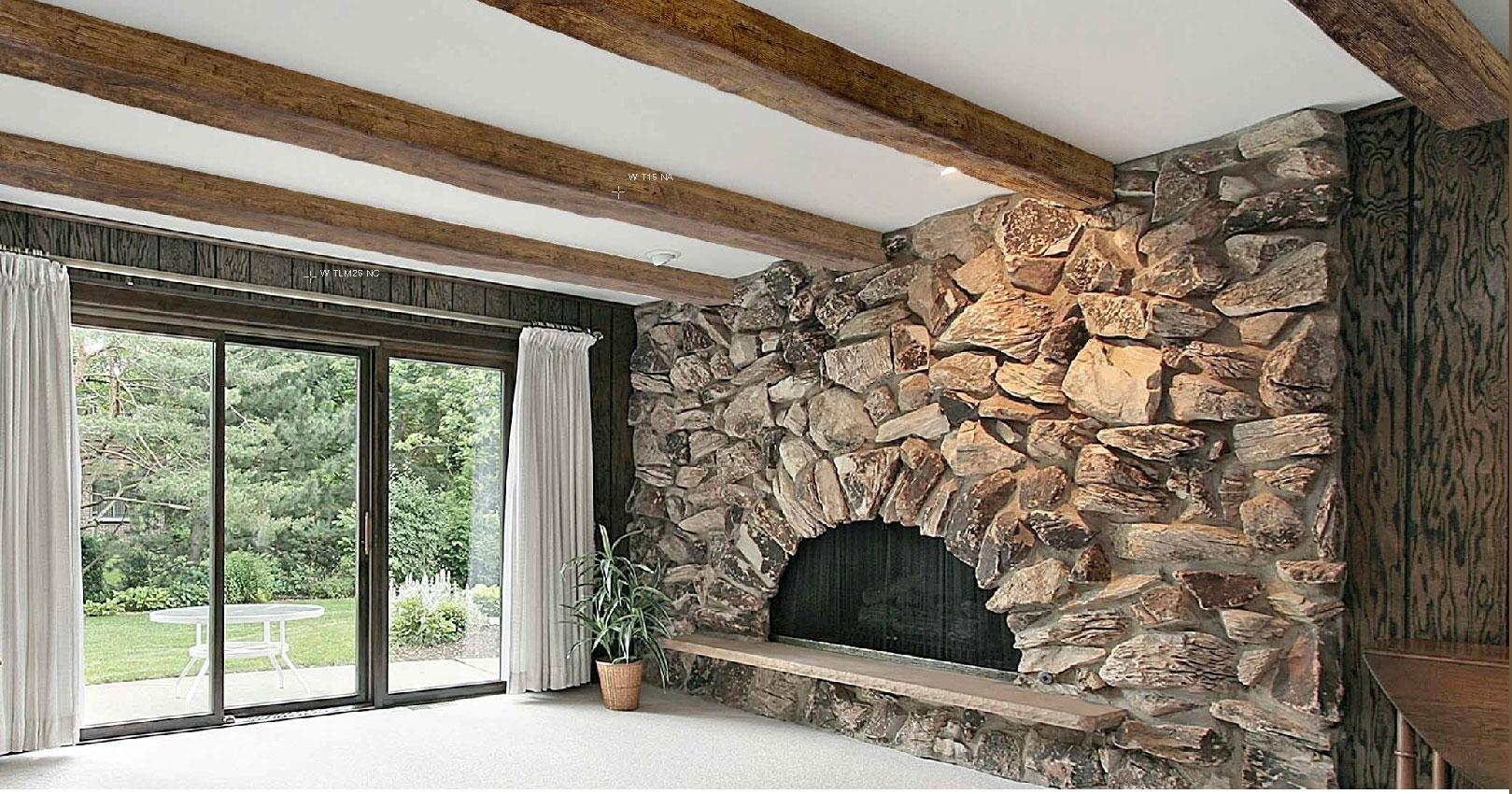 Travi rustiche per soffitti in poliuretano for Copri travi finto legno
