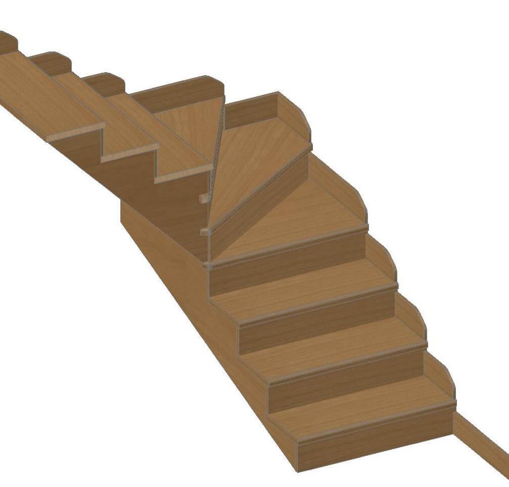 Battiscopa faggio per rivestimento scale su misura grado for Coprigradini per scale in legno
