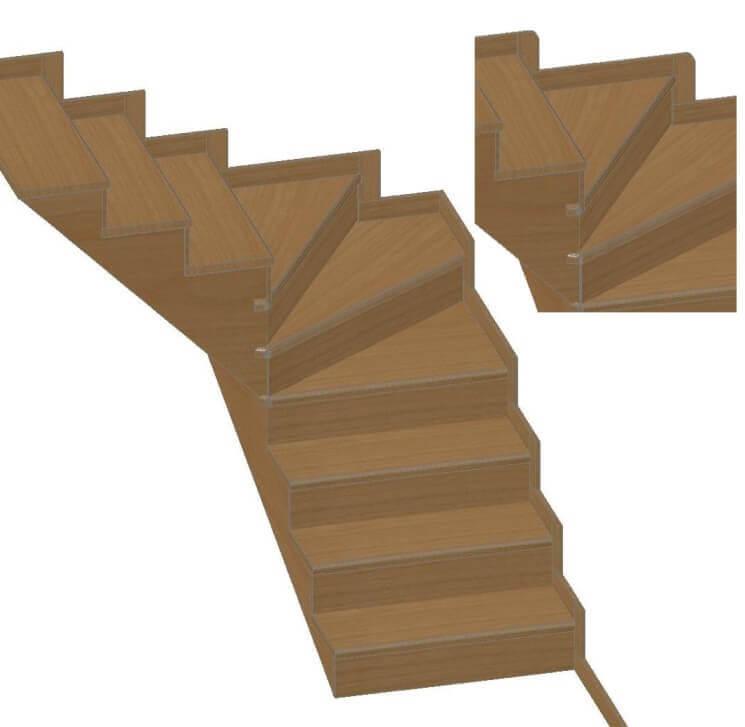 Rivestimenti per scale in legno di abete battiscopa in for Passatoie per scale legno