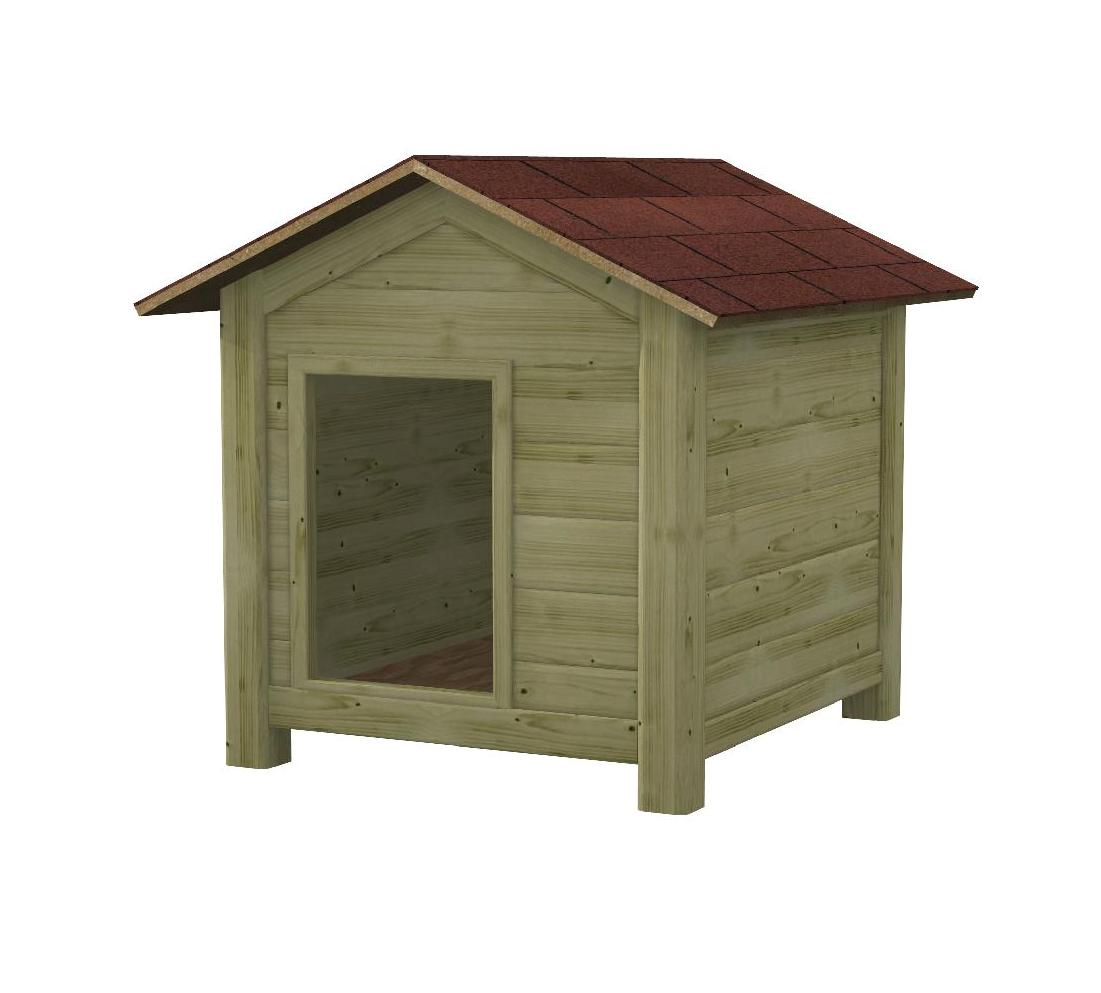Cuccia in legno per cani da esterno colan for Cucce per gatti da esterno coibentate