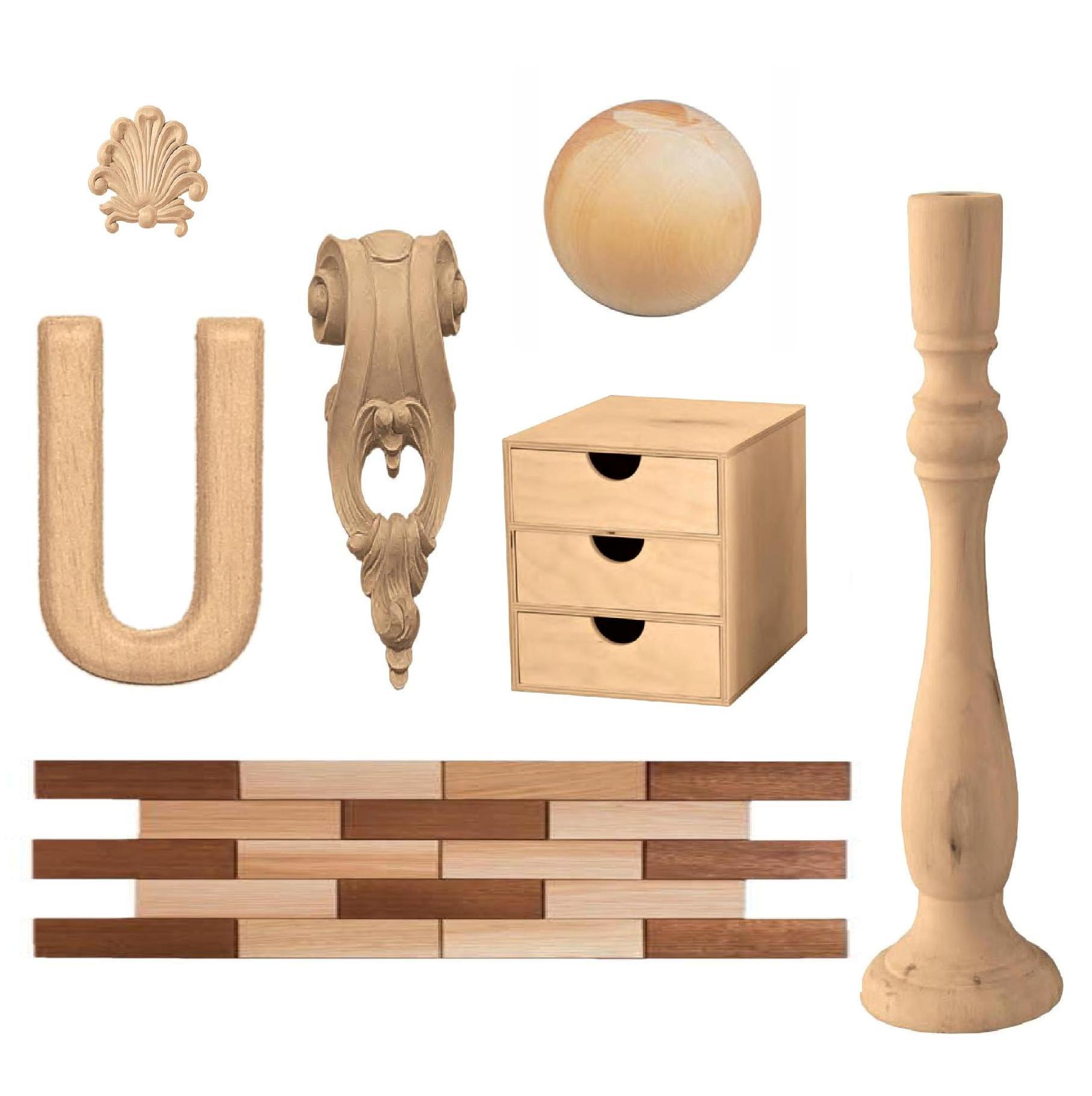 Forme decorative in faggio - Oggetti in legno da decorare ...