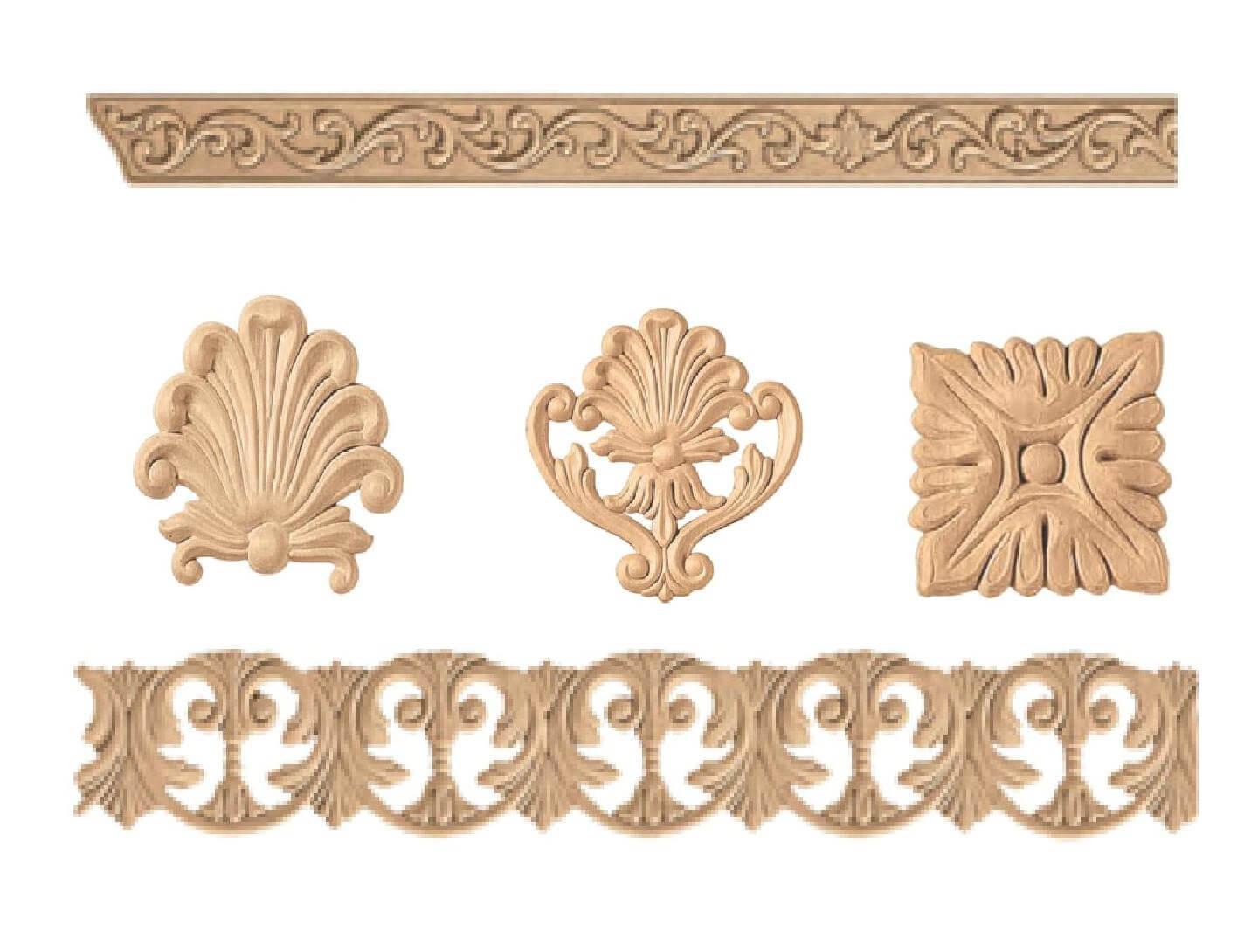 Fregi legno pressato 85748 - Decorazioni in legno ...