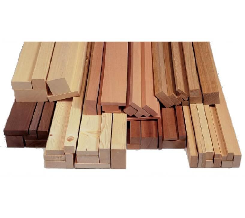 Asta quarto di tondo in legno duro da € 2,40 al pz