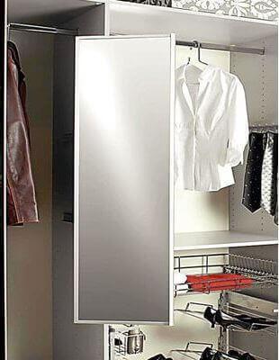 Specchio estraibile e girevole per armadi - Specchio estraibile da armadio ...