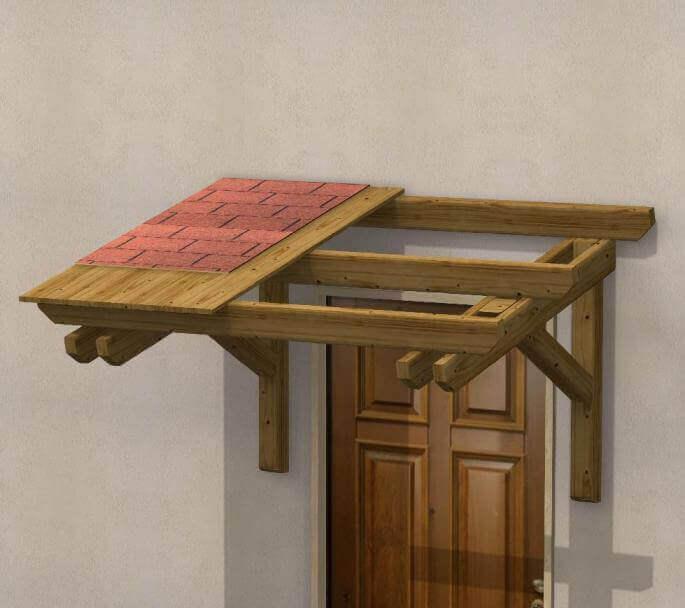 Pensilina in legno su misura parigi - Mensole da esterno ...