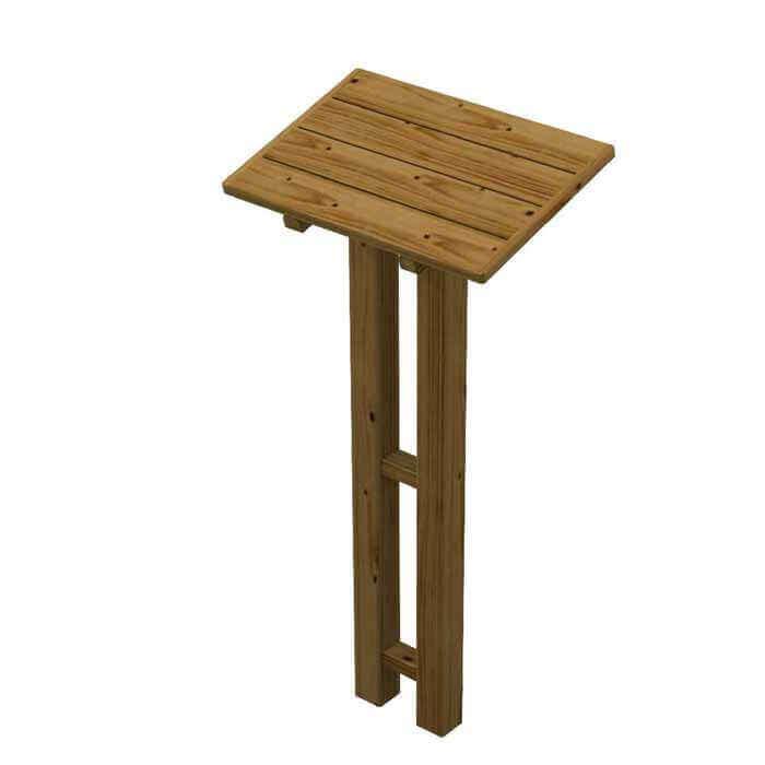 Leggio da esterno in legno for Cassapanche in legno per esterno