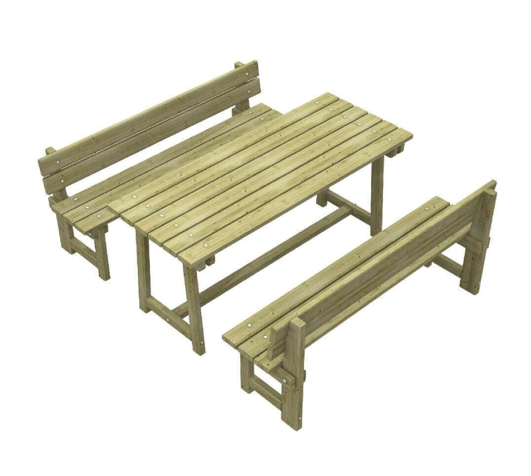 Tavolo con panche alpi - Tavolo pic nic legno ...
