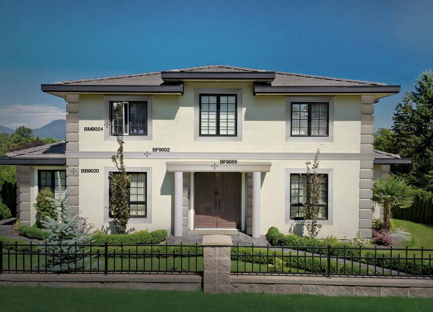 Frontoni per rivestimento esterno in polistirene rivestito - Decori per finestre esterne ...