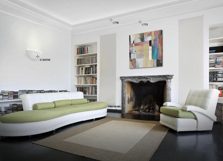 Cornici per soffitti polistirene for Cornice adesiva per pareti