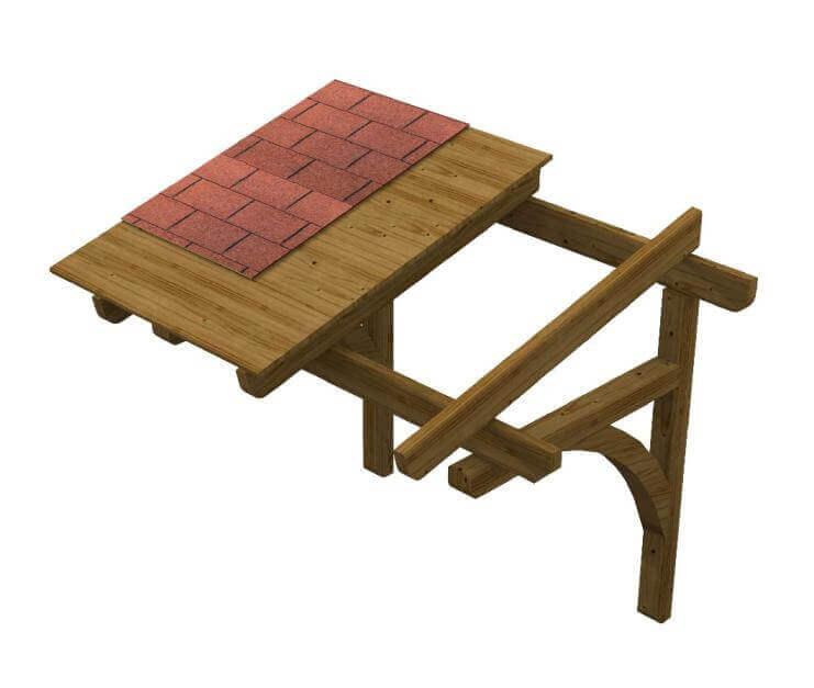 Pensilina in legno su misura AuroraC