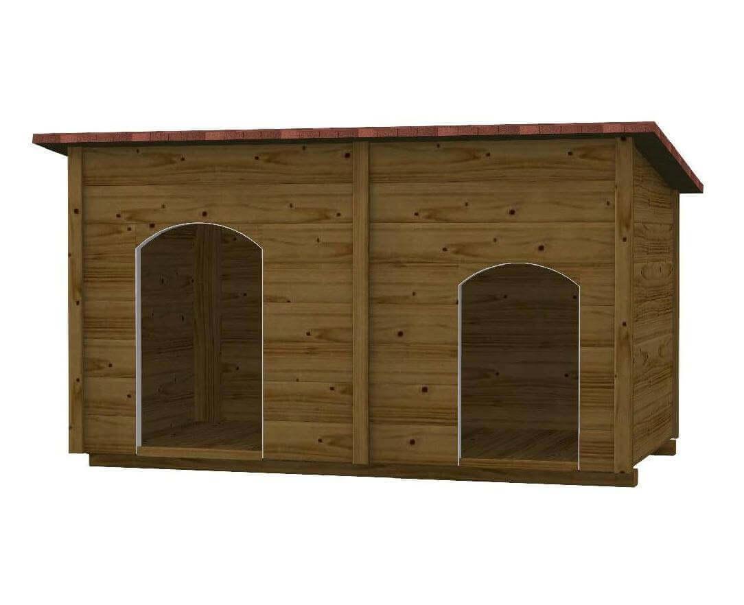 Cuccia in legno per cani da esterno rex for Cucce per gatti da esterno riscaldate