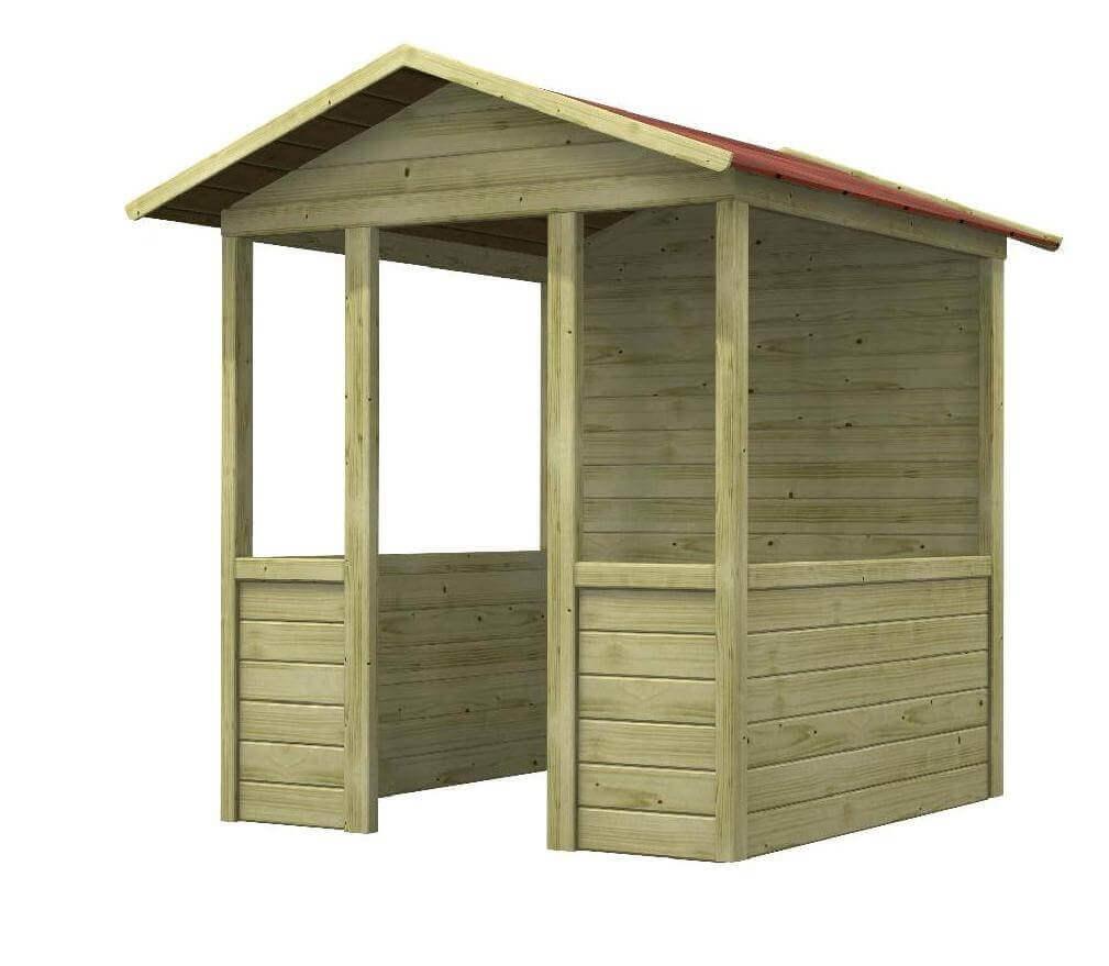 Casetta gioco per bambini in legno impregnato in autoclave - Tavolini per bambini in legno ...