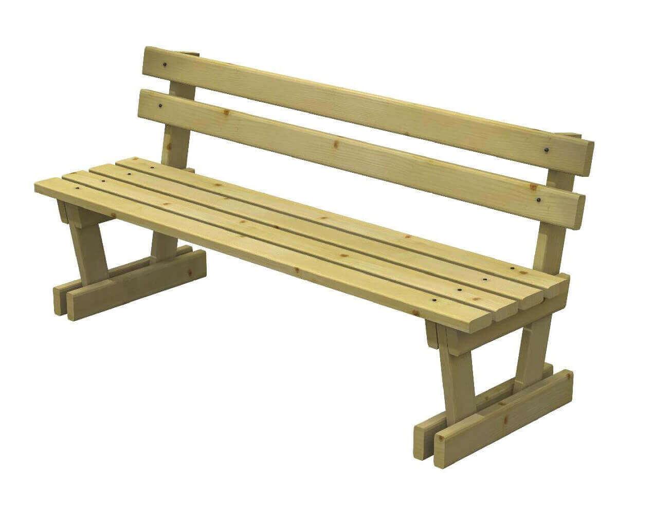 Panchina in legno modello marta negozio online - Ikea panche esterno ...