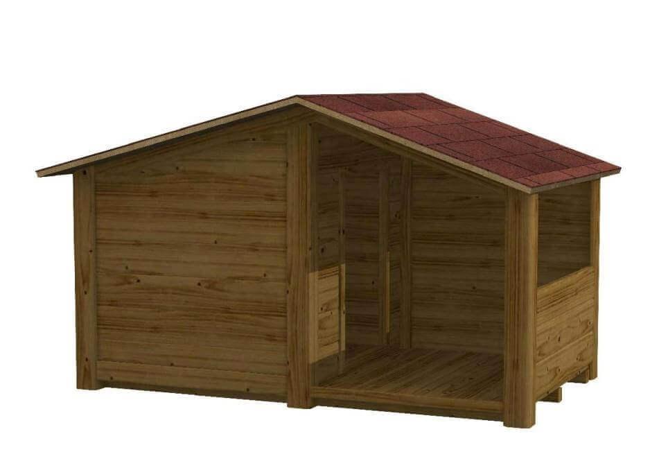 Credenza Legno Da Esterno : Cuccia in legno per cani da esterno gohan