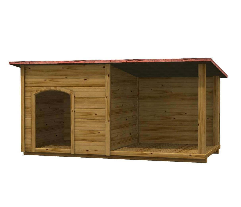 Cuccia in legno per cani da esterno colan for Cucce per cani da esterno coibentate