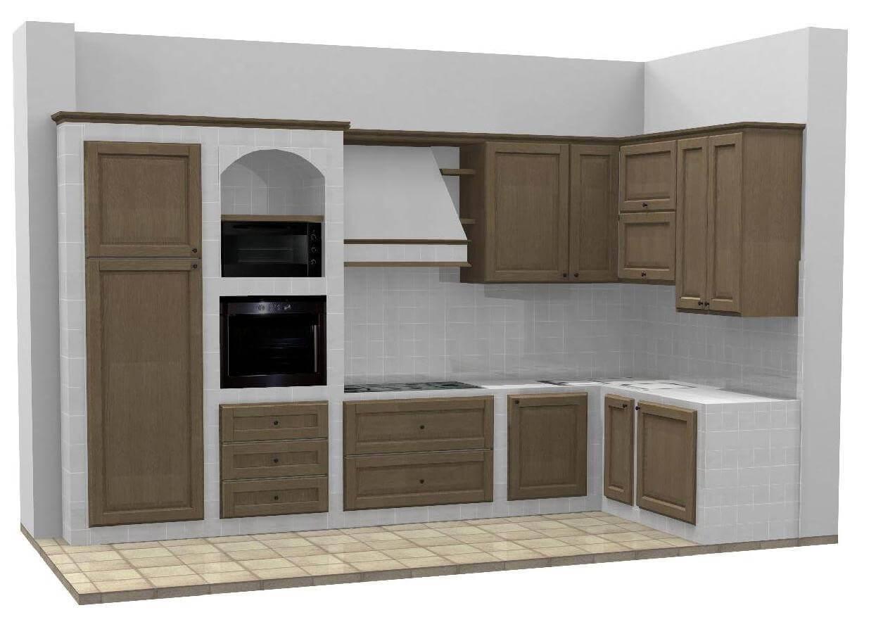 Amazing base per cucine in muratura su misura with cucine - Cucine da giardino in muratura ...