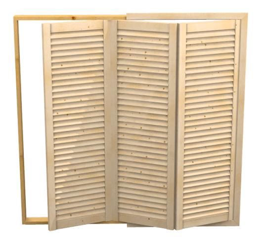 Anta aria con telaio su misura a persiana apertura pieghevole - Ante mobili fai da te ...