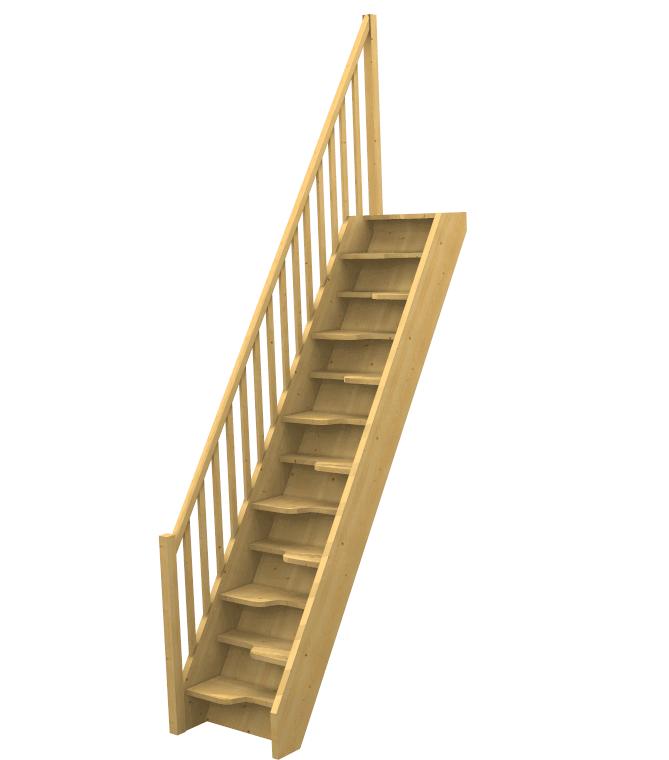 Scala spazi ristretti a papera for Tappeti per scale in legno