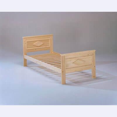 Letto siviglia in legno massello singolo - Letto in legno grezzo ...