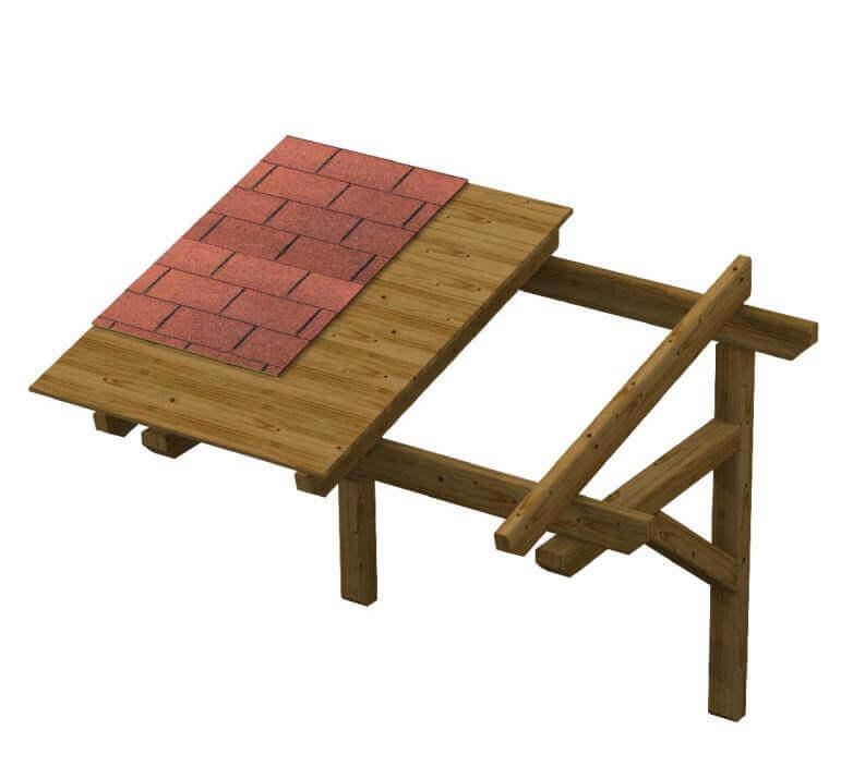Pensilina in legno su misura AuroraD