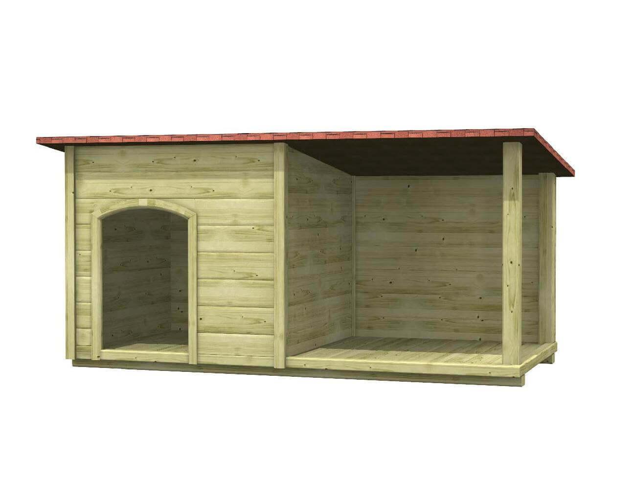 Cuccia in legno per cani da esterno colan for Costruire cuccia per cani da esterno