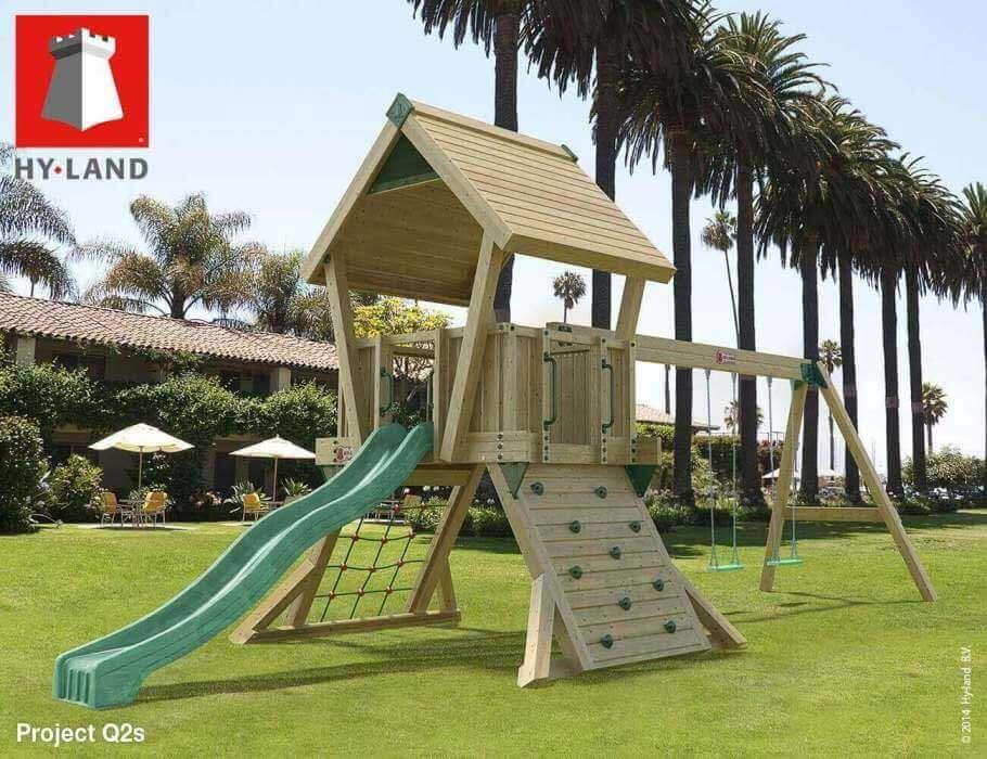 Parco giochi con scivolo e altalena per uso pubblico hy for Scivolo per bambini usato