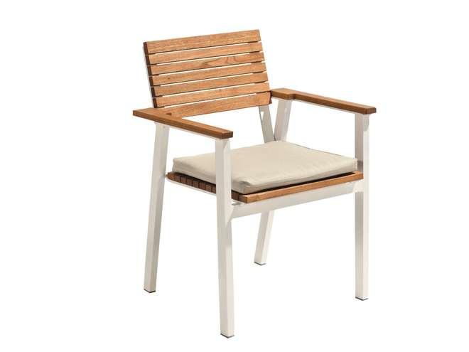 Sedie Da Esterno Legno.Sedia Da Giardino Floor In Legno E Alluminio Negozio Online