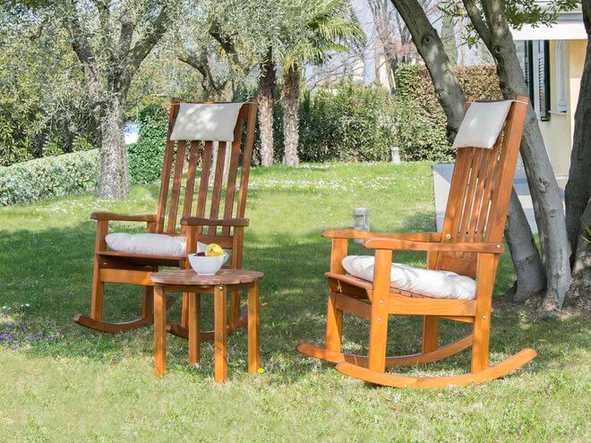 Dondolo Da Giardino Fai Da Te : Sedia a dondolo da giardino dolomiti in pino negozio online