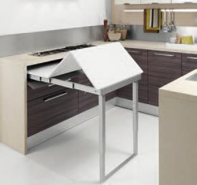 Meccanismo per tavolo estraibile con telaio negozio online - Tavolo a scomparsa cucina ...