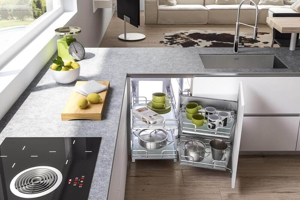 Estraibile per angoli a cassettoni negozio online - Vibo accessori cucina ...