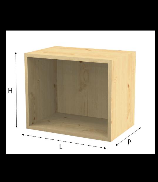 Modulo Q Box In Abete Grezzo