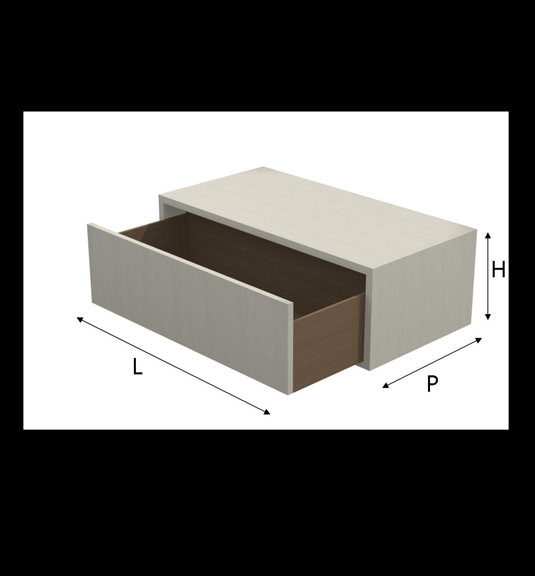 Cassetti Su Misura.Modulo Q Box Con Cassetto In Melaminico