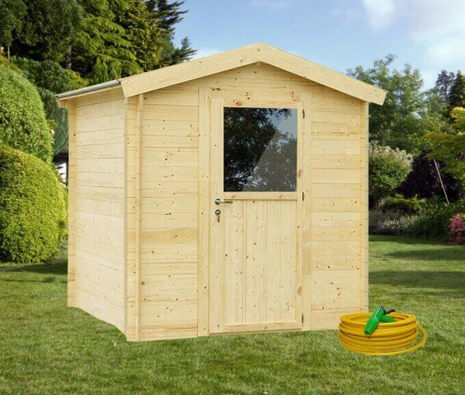 Casette in legno regis 200 x 200 blockhaus for Rocce da giardino vendita on line
