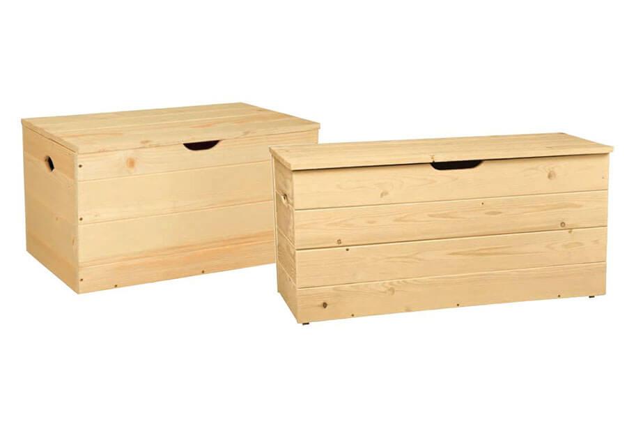 Cassapanche e contenitori cassapanche big in kit for Mobili legno grezzo in kit